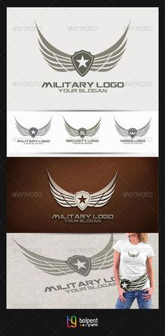 Military Logo v.2 — Vector EPS #shop #simple • Available here → https://graphicriver.net/item/military-logo-v2/4465007?ref=pxcr