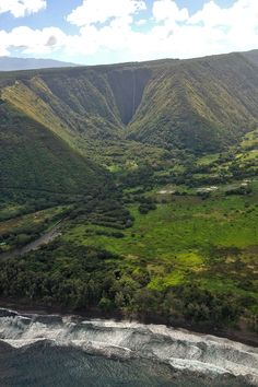 Hawaii landscape from helicopter