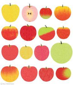 by Ryo Takemasa Prevention September 2014 on Behance Apple Illustration, Graphic Illustration, Ryo Takemasa, Pomes, Japanese Art, Food Illustrations, Food Art, Illustrators, Print Patterns