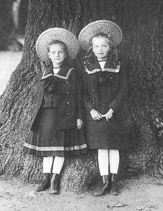 Grand Duchesses Tatiana and Olga Nikolaevna Romanova of Russia.A♥W