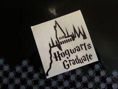 Harry Potter Hogwarts Graduate Decal Sticker Window Car Laptop