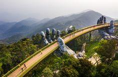 Vietnam Da Nang, Zell Am See, Bridge Construction, Show Of Hands, Peaceful Places, Mountain Resort, Urban Planning, Aerial View, Skyscraper
