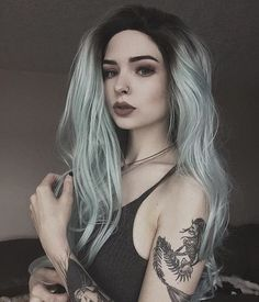 New article on Ninja Cosmico: 28 Inspiring Silver Hair Color ideas. Hair Dos, Your Hair, Goth Outfit, Twisted Hair, Corte Y Color, Punk Outfits, Coloured Hair, Dream Hair, Silver Hair