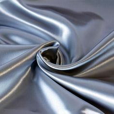 silver silk satin