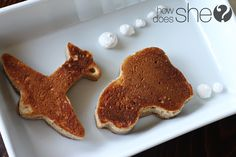 Use cookie cutters to make pancakes in fun shapes!