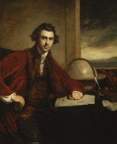 Joseph Banks 1773 Reynolds.jpg.  Scientist of Bontany and naturalist.