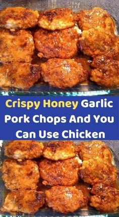 Crispy Honey Garlic Pork Chops ( you can use chicken ) … Crispy Honey Garlic Pork Chops ( you can use chicken ) … – Healthy Recipes Pork Pork Chop Recipes, Ww Recipes, Chicken Recipes, Cooking Recipes, Healthy Pork Recipes, Recipes Using Pork Chops, Chicken Chop Recipe, Healthy Meals, Healthy Recipes Dinner Weightloss