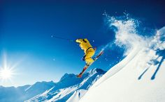 Winter Fun in the Alps - Alps Ski Vacation Wallpapers Vincent Spano, Go Skiing, Ski Jumping, Ski Vacation, Adventure Tours, Adventure Travel, Winter Fun, Winter Snow, Extreme Sports