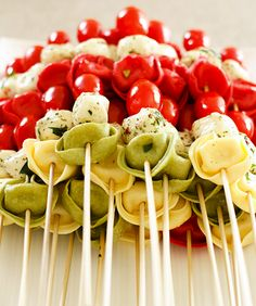 loving these antipasti skewers for holiday parties!