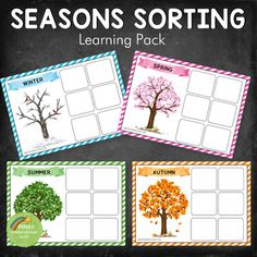 Four Seasons Sorting Activity (REAL IMAGES) by Pinay Homeschooler Shop   Teachers Pay Teachers English Activities, Sorting Activities, Montessori Activities, Autumn Activities, Summer Activities, Seasons Kindergarten, Kindergarten Classroom, Kindergarten Activities, Communication And Language Activities