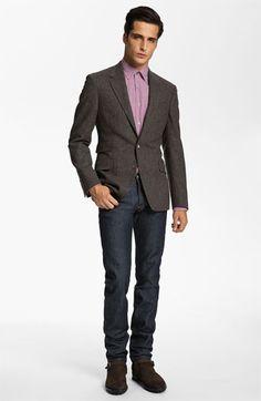 Paul Smith London Blazer, Dress Shirt & A.P.C. Slim Leg Jeans | Nordstrom
