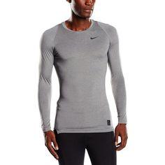 30467a391bb258 Nike Pro Combat 2.0 Mens Long Sleeve Dri-Fit Shirt Gray Size M