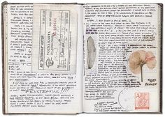 Simple but pretty. travel journal by retro traveler, via Flickr