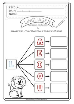 Tracing Sheets, Phonological Awareness, Preschool At Home, Preschool Worksheets, Adult Coloring Pages, First Grade, Literacy, Kindergarten, Teaching