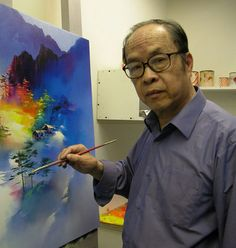 .... KEN HONG LEUNG .......   5/14/1933 - ....... Born in Canton .. China ..... .     U.S.  citizen since 1988 ..... Resides in San Francisco .  CA    . .    ............... .     Genesis Gallery , About the Artist