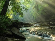 Picture of creek in Cuyahoga Valley National Park, Ohio
