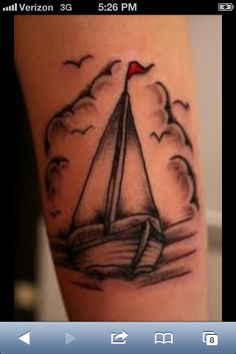 Love this sailboat tattoo!
