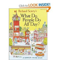 Richard Scarry's What Do People Do All Day  --  One of the best books for little ones starting at about 12 months.  They like to look at the little pictures and find the banana car, the dog, etc.
