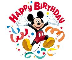 Happy Birthday Mickey Mouse Images and Cards Happy Birthday Pictures, Happy Birthday Messages, Happy Birthday Quotes, Happy Birthday Greetings, Birthday Wishes, Disney Happy Birthday Images, Mickey Mouse E Amigos, Mickey E Minie, Mickey Mouse Images