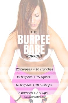 The Burpee Babe Workout by the Super Sisters