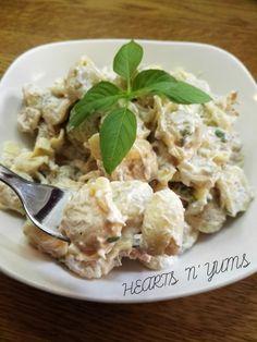 for sore eyes and rumbling tummies! Cheese Tortellini, Tuna, Basil, Potato Salad, Potatoes, Cream, Sore Eyes, Ethnic Recipes, Wordpress