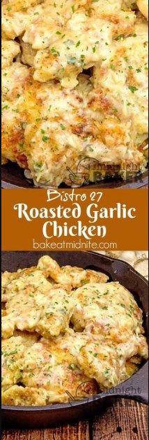BISTRO 27 ROASTED GARLIC CHICKEN | best recipes food