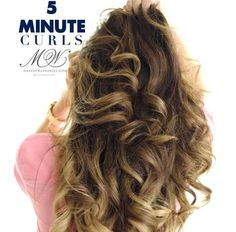 How to curl your hair in just 5 minutes to create big f513d76253bd