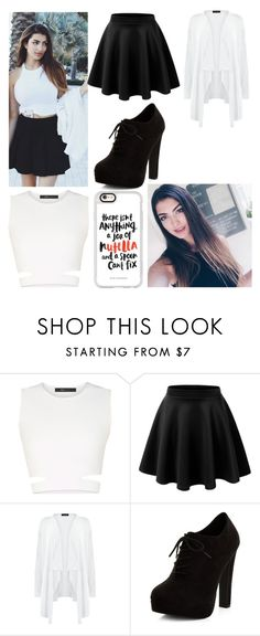 """""""Rachel Levin"""" by princessevelyn31 on Polyvore featuring BCBGMAXAZRIA, LE3NO, New Look and Casetify"""