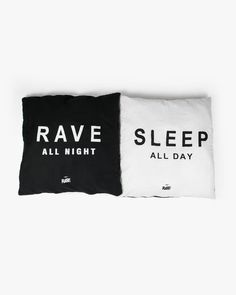Don't forget to go home   Our RAVE All Night Techno cushion covers