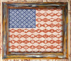American Flag Southwest Print  -  Uncovet