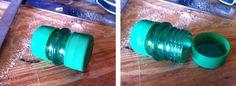 Small Screw Top Capsules From Plastic Bottle Caps, Necks