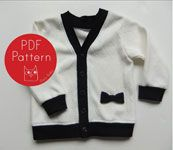 Owly Baby Darling Cardigan - Downloadable Pattern
