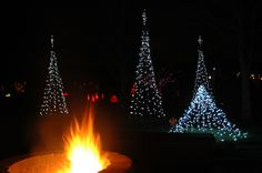 Don't forget to warm up next to the fire pit, while enjoying a view that shows off a portion of our 500,000 lights!