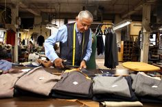 "One of the last handmade suits factories in the US, Martin Greenfield Clothiers ""Most clothing is made strictly for profit. If it can be made somewhere else for 3% cheaper, most entities would move to save the 3%,"" Tod says. ""We're not motivated that way. Clothes-making is in my father's blood."""
