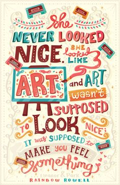 She looked like Art typography by Risa Rodil, via Behance #design #poster #illustration