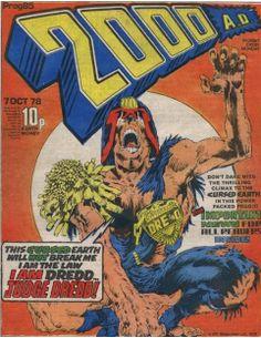 Judge Dredd, 2000AD comic cover art