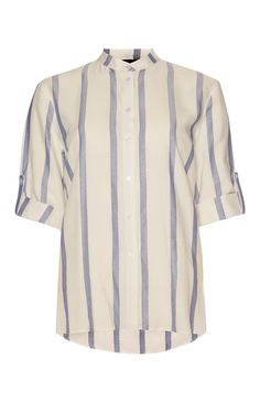 Primark - Neru Collar Laundered Striped Shirt