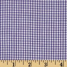 Gingham 1/16'' Checks Galore Purple from @fabricdotcom  This classic very lightweight woven yarn dyed gingham fabric is extremely versatile. It can be used to create stylish summer dresses, children's apparel and blouses. It can also be used to make tablecloths, curtains and even handkerchiefs.