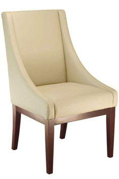 Sleek- Lenox Leather Side Chair by Home Decorators