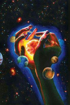 Arte Complexa, Art Galaxie, Illustration Art Dessin, Art Hippie, Planet Painting, Art Visionnaire, Art Du Collage, Triptych Art, Psychadelic Art
