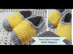 Two Color Crochet Ballet Slippers - YouTube