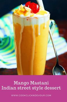 Mango mastani recipe with step by step photos. Learn how to make mango mastani, a very popular dessert drink from Pune, India with this easy recipe today. Mango Milkshake, Milkshake Recipes, Easy Smoothie Recipes, Ice Cream Smoothie, Raspberry Smoothie, Smoothies, Chocolate Banana Milkshake, Mango Cake, Quick Vegetarian Meals
