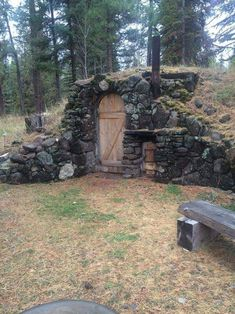 """My bf surprised me by renting a cabin that we canoed back & forth to. The picture is a hobbit-esq wood fired sauna. Earth Sheltered Homes, Earthship Home, Outdoor Sauna, Root Cellar, Underground Homes, Tiny House Cabin, Earth Homes, Natural Building, Cabins And Cottages"
