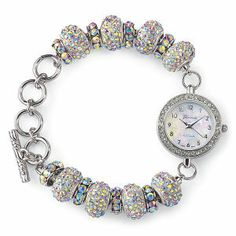Aurora Borealis Bracelet Watch - New Age, Spiritual Gifts, Yoga, Wicca, Gothic, Reiki, Celtic, Crystal, Tarot at Pyramid Collection