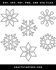 Free simple snowflake outline patterns in a variety of formats including images, vector files, and printable versions. Use them for crafting, cutting machines, and more. Paper Snowflake Template, Bunting Template, Snowflake Stencil, Snowflake Designs, Snowflake Pattern, Snowflakes, Frozen Snowflake, Simple Snowflake, Stencil