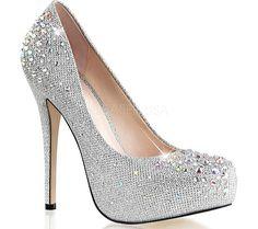 Silver heels: when glitz and glamour meet silver heels fabulicious destiny silver glitter mesh fabric GQJNRJQ Silver Dress Shoes, Silver High Heel Shoes, Silver Glitter Shoes, Glitter Heels, Silver Heels, High Heel Pumps, Pump Shoes, Stiletto Heels, Silver Rhinestone