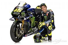Monster Energy takes over as the new title sponsor of the Yamaha MotoGP squad, and that means new graphics to go with the team's new mentality. Motogp Valentino Rossi, Valentino Rossi 46, Monster Energy, Motogp Teams, Motogp Race, Gp Moto, 1957 Chevrolet, Super Bikes, Road Racing