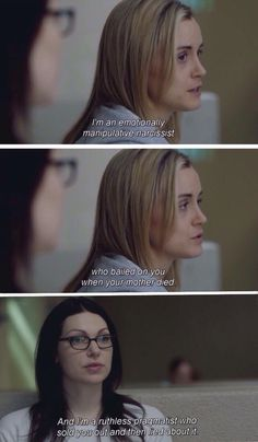 Piper and Alex. Orange is the New Black Season 1