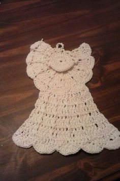 Angel dishcloth