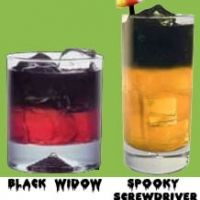 Spooky Screwdriver Or Black Widow Halloween Cocktails Recipe